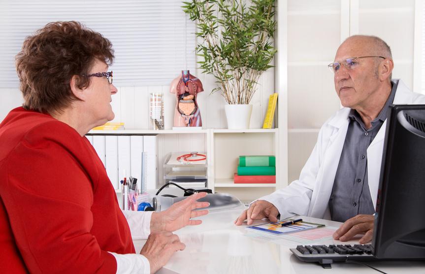 Besuch beim Arzt wegen Diabetes