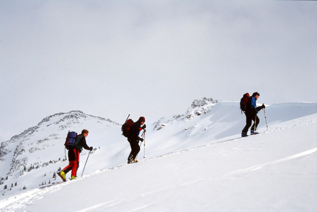 backcounty skiers