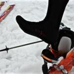 Skiunterwäsche und Skisocken mit Silberfasern