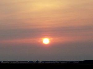 Sonnenaufgang am Jakobsweg