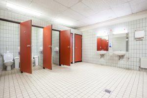 Keime auf öffentlichen Toiletten