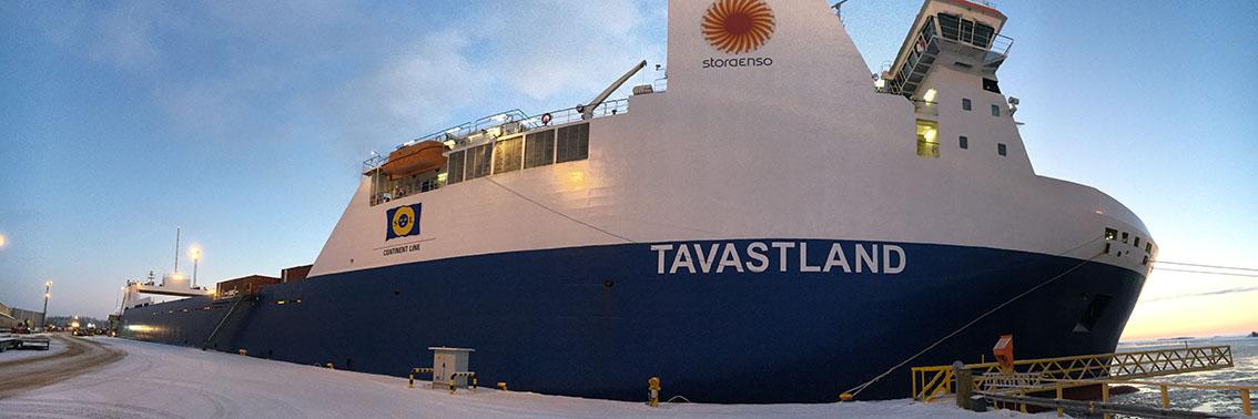 MS Tavastland im Hafen