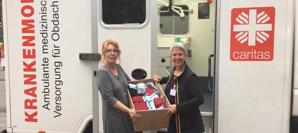 Silbersocken für das Caritas Krankenmobil